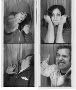 4 people in photobooth