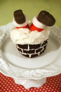 Santa upside down